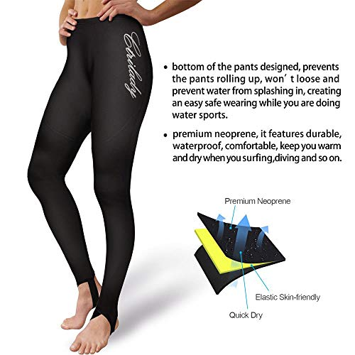 6339984ecf4d7 CtriLady Women's Wetsuit Pants 2mm Neoprene Snorking Leggings for Workout Swimming  Surfing Canoeing Diving with Pocket
