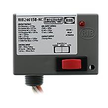 Functional Devices RIB2401SB-NC Enclosed Relay SPST-NC RIB-RELAY, Override, 20A, 120V