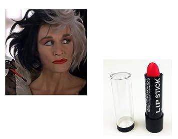 Red Matte Lipstick Halloween Cruella Monroe Devil Vampire Gothic Makeup Her Lips