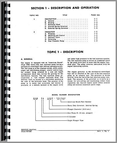 American Bosch PSB Injection Pump Service Manual