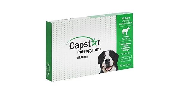 NOVARTIS Capstar verde para perros de más de 25 libras - 6 tabletas: Amazon.es: Productos para mascotas