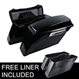 XMT-MOTO Hard Saddle bags Trunk w/Lid & Latch Key For 1994-2013 Harley Davidson all Touring Models including road glide