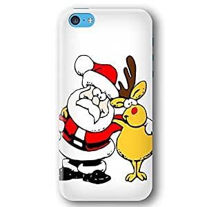 Santa Clause and Rudolph The Red Nosed Reindeer iPhone 5C Slim Phone Case