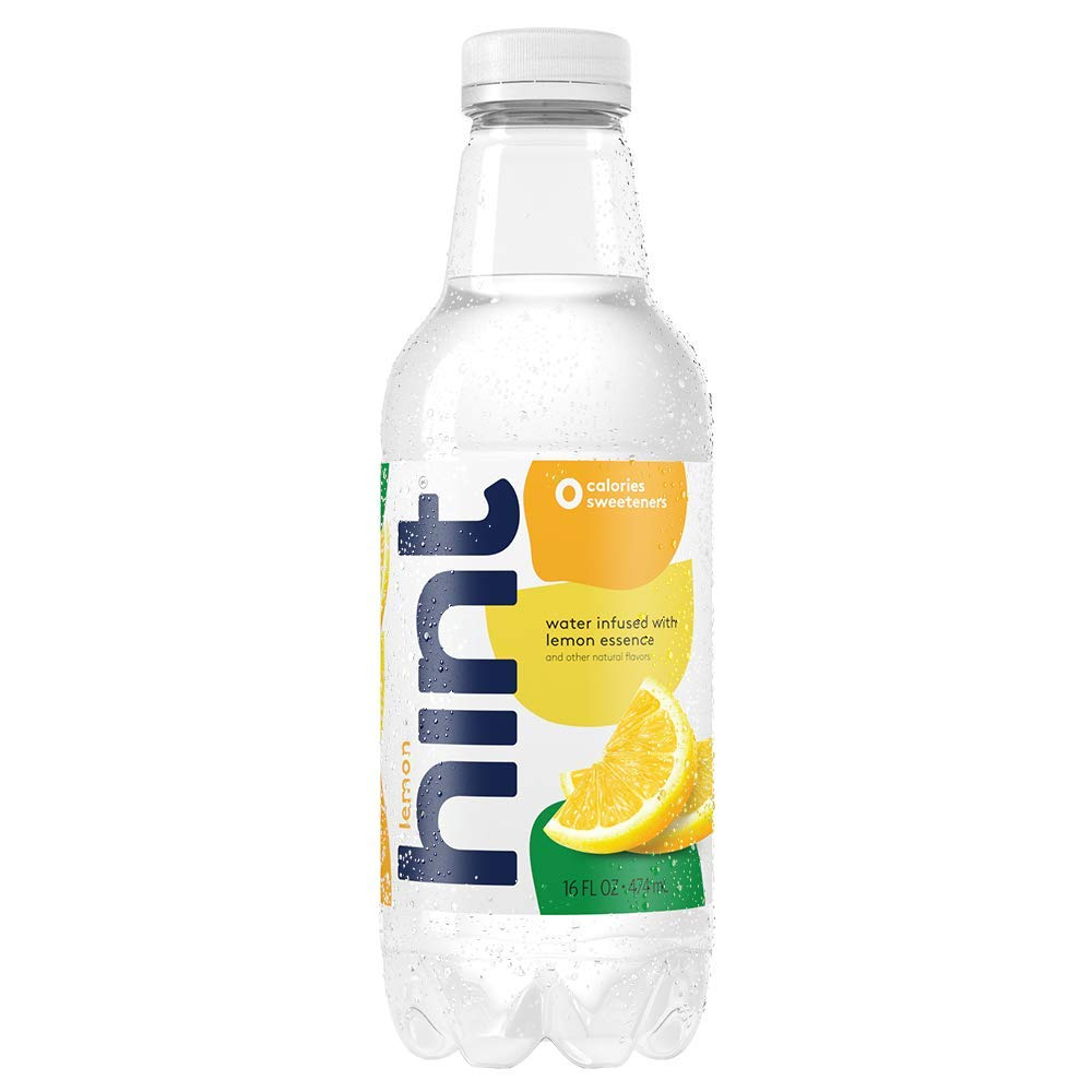 Hint Water Lemon (Pack of 12) 16 Ounce Bottles Pure Water Infused with Lemon Zero Sugar Zero Calories Zero Sweeteners Zero Preservatives Zero Artificial Flavors by Hint