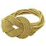 NOVICA Gold Rope Belt, 'Dorado Braids'