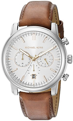 Michael Kors Men's Pennant Brown Watch MK8372 (Michael Kors Watch Men Leather)