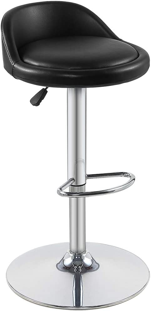 Chintaly Imports 0327 Backless Pneumatic Gas Lift Adjustable Stool with 3 Extra Slip Cover Colors