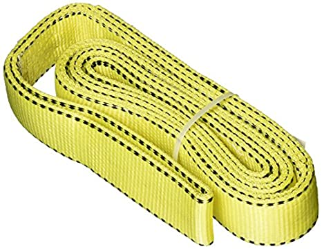 2-Ply 3 x 12 Yellow 3 x 12/' Liftex TE293X12PD Eye and Eye Pro-Edge Polyester Web Sling with Twisted Eyes