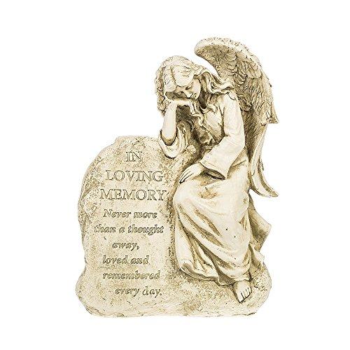 (In Loving Memory Angel 7 x 9.5 Inch Indoor Outdoor Resin Statue Figurine)