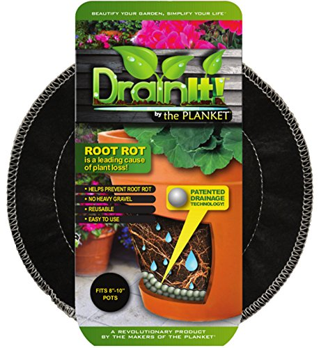 DrainIt! Plant Container Disc, 8 to 10-Inch (Cover Soil Decorative)