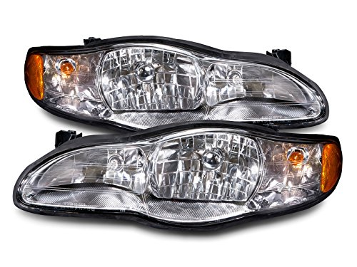 Headlights Depot Replacement for Chevy Lumina/Monte Carlo New Headlights Headlamps ()