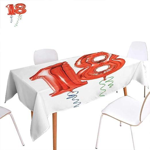familytaste - Mantel Rectangular para 17º cumpleaños con ...