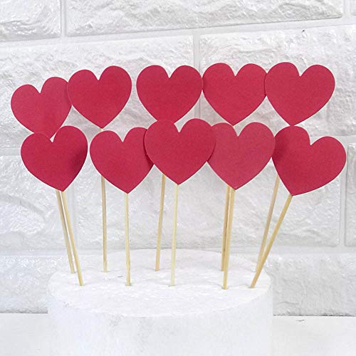 - AimtoHome Glitter Heart Cupcake Toppers Red Party Cupcake Decorations for Birthday   Baby Shower   Wedding   Engagement   Valentine's Day   Christmas Party Dessert Decorations Topper, Pack of 50