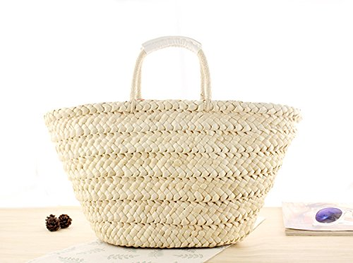 Corn Summer Tassel Woven Husk Pompoms Abuyall Plant Stripe Balls Animal Bag Pt6 Beach Embroidery Straw Shoulder zqSEw7