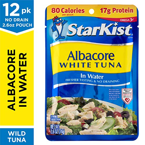 StarKist Albacore White Tuna in Water - 2.6 oz Pouch (Pack of 12) (Bumble Bee Premium Albacore Tuna In Water)