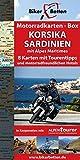 Motorradkarten-Box Korsika | Sardinien: Acht Tourenkarten für Motorrad-Reisende