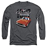 Chevy Chevrolet 1967 Red Classic Camaro Long Sleeve Shirt, Charcoal, XL