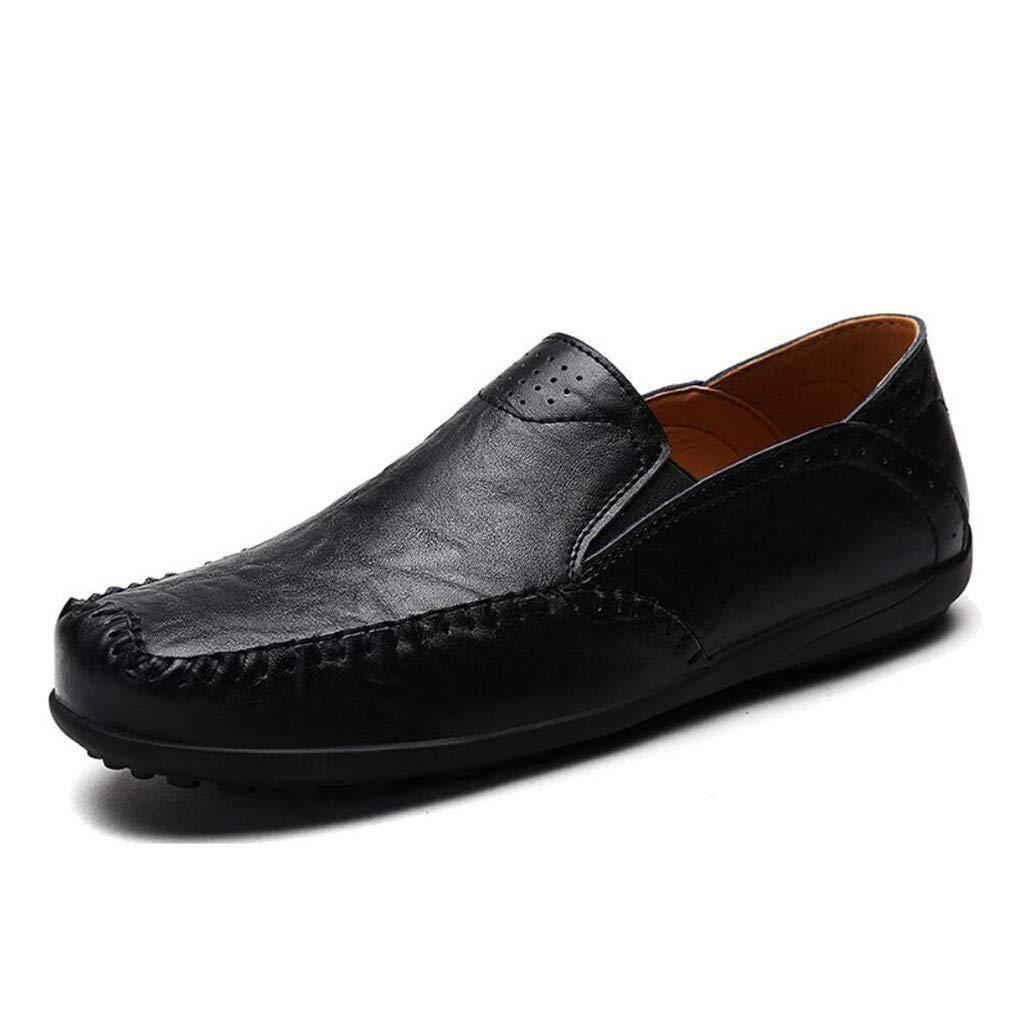 Herrenschuhe, Frühling Herbst Casual Loafers Flache Lederschuhe, Mode Slip on Driving Schuhe, Breathable Freizeitschuhe, Flut Faule Schuhe (Farbe   On, Größe   41)