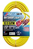 US Wire and Cable 74050, 50ft, Yellow