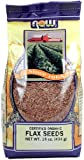 NOW Foods Organic Flax Seed, 16-Ounce (Pack of 12)