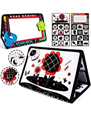 teytoy Tummy Time Floor Mirror Developmental Baby Mirror Tummy Time Toys Activity Double High Contrast Baby Toy Black and White Infant Toys for Babies Newborn Infants Toddler Boys and Girls
