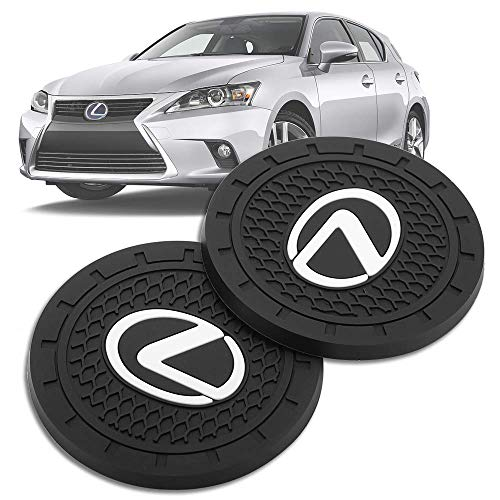 fit lexus Auto Sport 2.75 Inch Diameter Oval Tough Car Logo Vehicle Travel Auto Cup Holder Insert Coaster Can 2 Pcs Pack