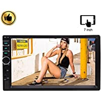 Hotsale 7 inch Capacitive Multi-touch Screen Double 2 Din Car MP5 Video Radio Player Car Deck Audio Headunit in Dash two Din Car Stereo for Bluetooth/1080P/Optional Screen