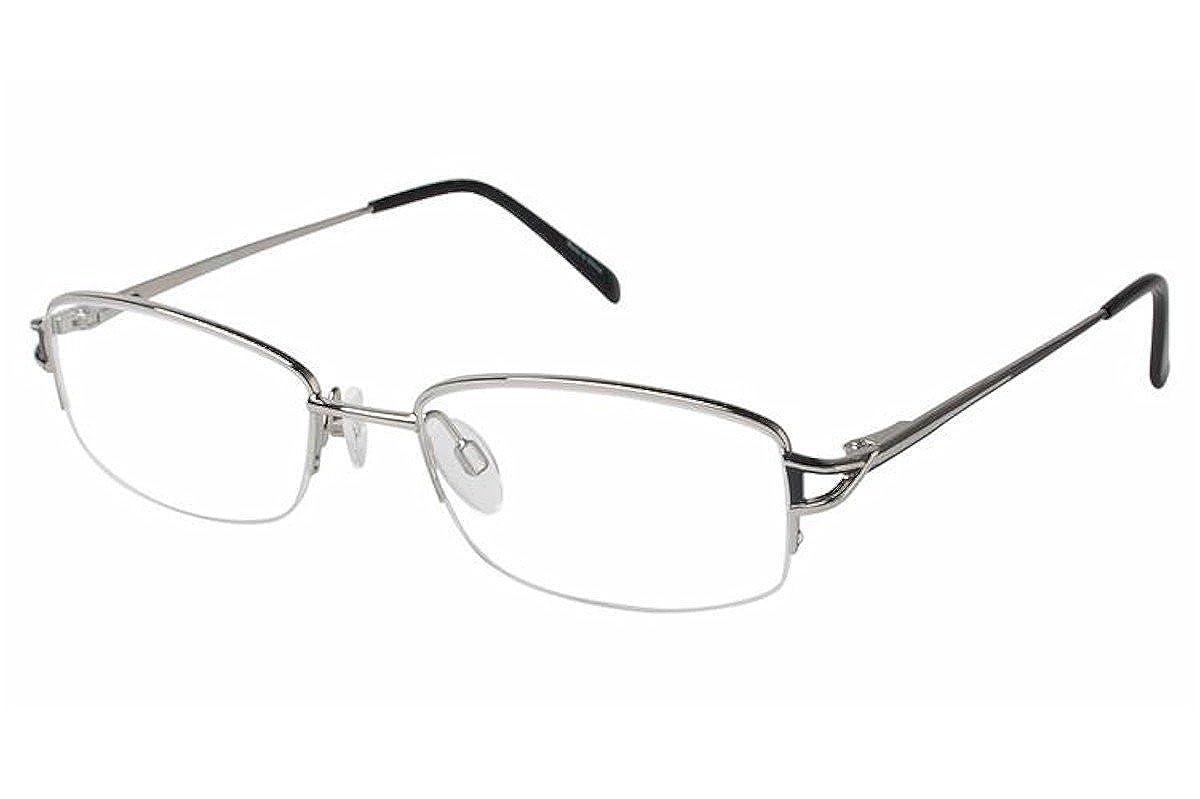 Aristar By Charmant Eyeglasses AR16350 AR//16350 524 Silver Optical Frame 52mm