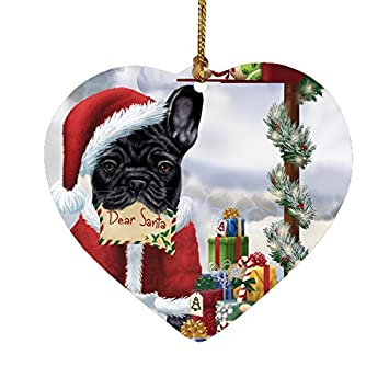 Amazon french bulldogs dear santa letter christmas holiday french bulldogs dear santa letter christmas holiday mailbox dog heart ornament spiritdancerdesigns Images
