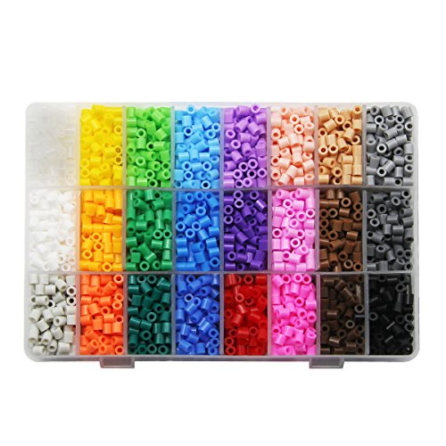 ARTKAL 5200P Fuse Beads in a Storage Box 24 Colors Pixel Beads CS24 (S-5mm) by ARTKAL