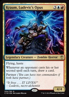 Magic: the Gathering - Kraum, Ludevic39;s Opus - Commander 2016 - Foil