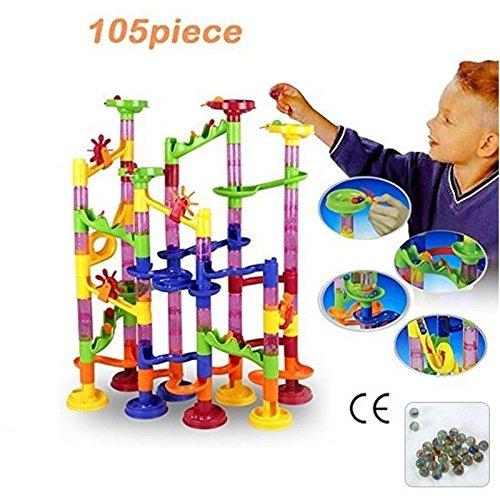 CXZC 1 Satz DIY Bau Marmor Rennen Laufen Maze Balls Track Bausteine Trendy, Cartoon Spielen für Mädchen Jungen Kleinkinder