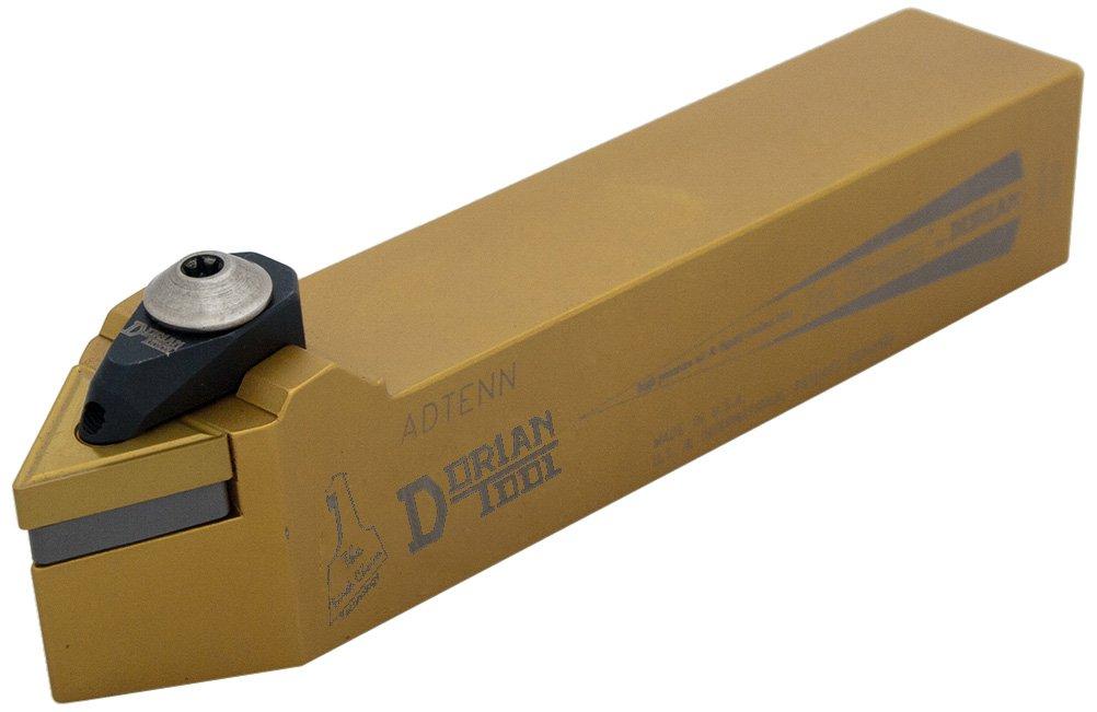 1 Shank Height Neutral Cut Dorian Tool ADTENN Jet-Stream Square Shank Chromium Molybdenum Alloy Steel Thru-Coolant Turning Holder 1 Shank Width 6 Overall Length 1//2 Insert