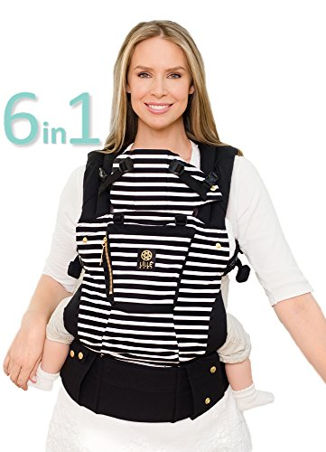 LÍLLÉbaby The COMPLETE Original SIX-Position, 360° Ergonomic Baby & Child Carrier, Black of the Same Stripe - Multi-Position Ergonomic Baby Carrier for Infants Babies Toddlers