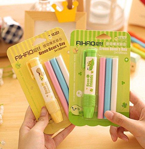 1PC Sweet Press Eraser White Writing Drawing Eraser School Supplies Stationery Randomly send
