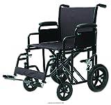 Heavy Duty Transport Chair, Trnsprt Chr 22 in 400 Lb Burg, (1 EACH, 1 EACH)