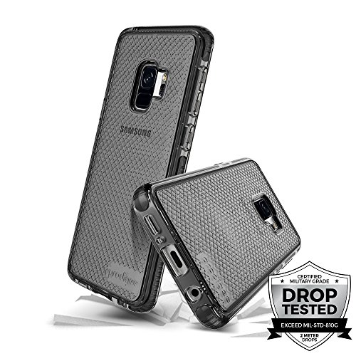 Prodigee [Safetee] for Samsung Galaxy S9 Cover Protective case Smoke Gray Grey Clear Transparent 2 Meter Military Grade Certified Drop Shock Test