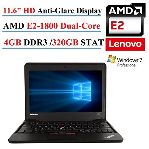 Lenovo ThinkPad X131E 11.6in Laptop, AMD E2-1800, 4GB DDR3, 320GB SATA, 802.11n, Webcam, HDMI, Windows 7 Professional (Renewed)