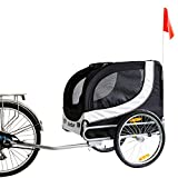 Kinbor New Basic Pet Bicycle Trailer Dog Carrier (White)