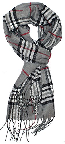 NYKKOLA Ultra Soft Unisex Knit Scarfs,Cashmere Feel Classic Scarf For Men Women (Bulky Scarf Pattern)