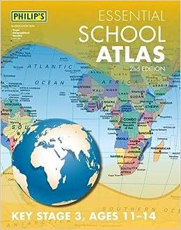 Map Of Uk Key Stage 1.Philip S Essential School Atlas Amazon Co Uk Philip S Maps