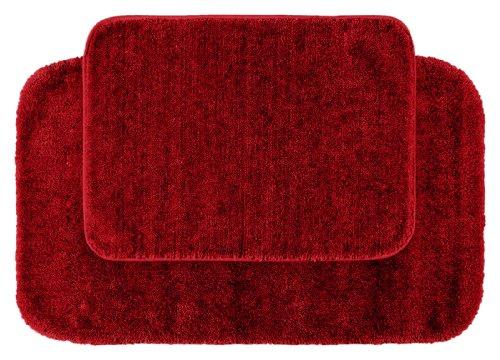 Garland Rug 2-Piece Traditional Nylon Washable Bathroom Rug