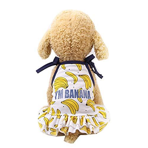 Hpapadks Banana Print Pet Skirt,Pet Couples Dress Puppy