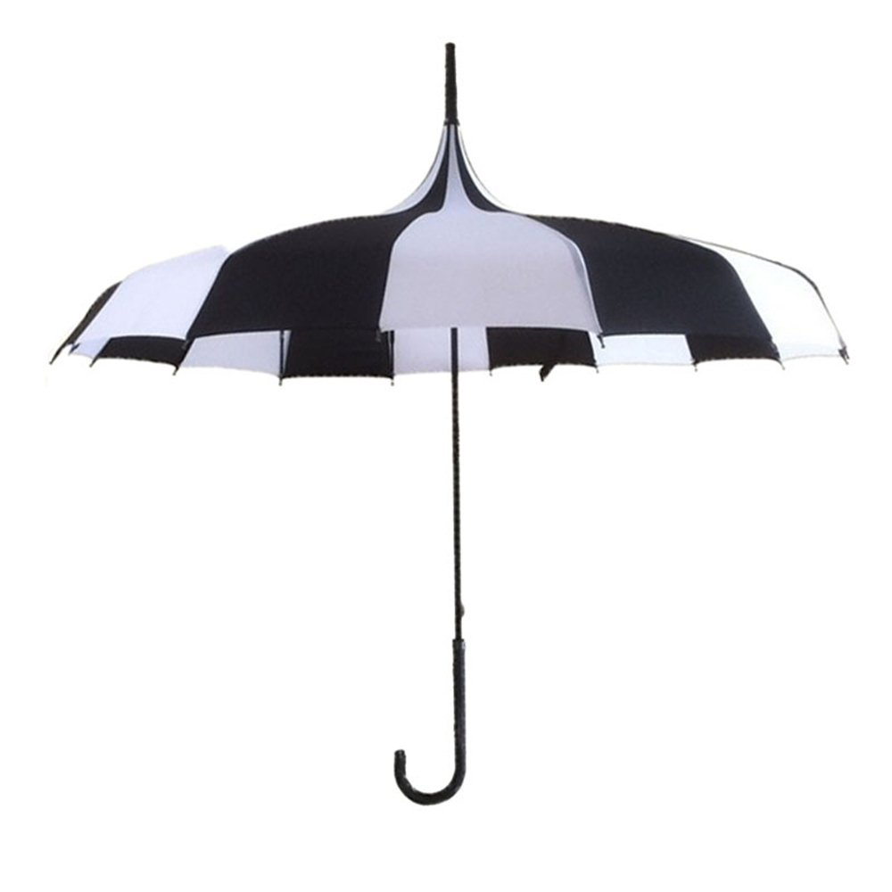 Large Women Long Handle Gothic Classic Windproof Pagoda Tower rain Sun Umbrella