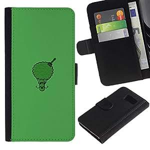NEECELL GIFT forCITY // Billetera de cuero Caso Cubierta de protección Carcasa / Leather Wallet Case for Samsung Galaxy S6 // Afro Brócoli divertido