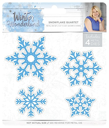 Sara Siganture S-WW-MD-SFQ Sara Signature Winter Wonderland Snowflake Quartet Thin Metal Die, Silver