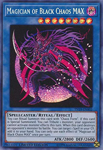 Yu-Gi-Oh! - Magician of Black Chaos MAX - TN19-EN002 - Prismatic Secret Rare - Limited Edition - 2019 Gold Sarcophagus Tin