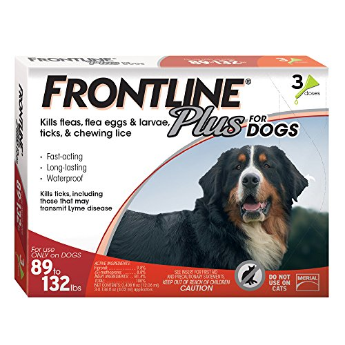 Frontline Plus for Dogs, 89-132 Lb, 3 Doses