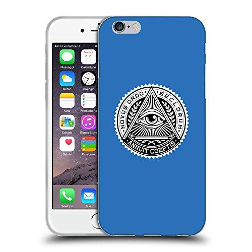 GoGoMobile Coque de Protection TPU Silicone Case pour // Q09020608 Œil Providence 12 Azur // Apple iPhone 7