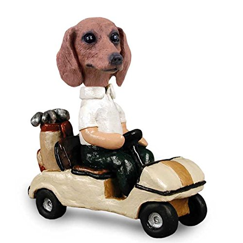 Dachshund Costumes Funny (Dachshund Red Golf Cart Doogie Collectable)